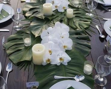 Voyage sous les tropiques avec une table style jungle
