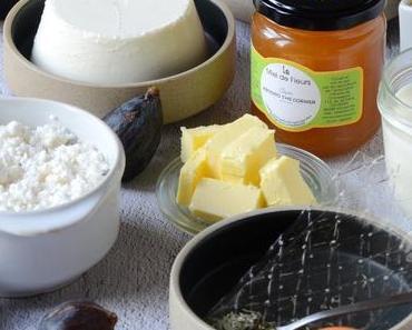 Recette cheesecake chèvre figues et nectarines rôties au miel