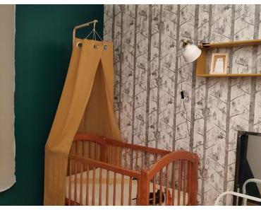 Une chambre de bébé sur le thème «forêt» : aperçu