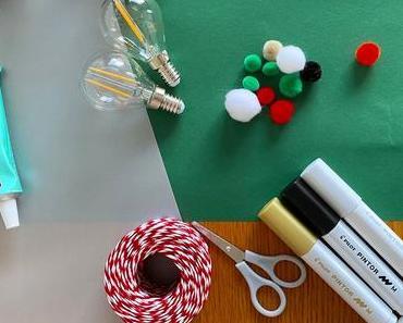 Déco ampoule usagée : mes boules de Noël upcycling