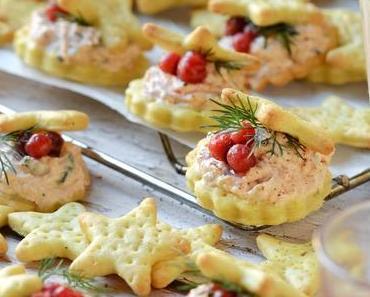 Amuse bouche de Noël : réalisez vos crackers de fêtes à la truite