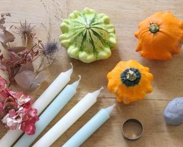 Bougeoir citrouille et fleurs séchées pour réchauffer votre décoration